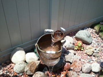 Copper Pot Fountain