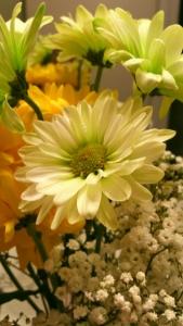green flower bouquet