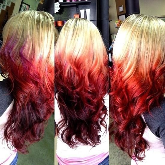 Red-blonde-Ombre-Hairstyle