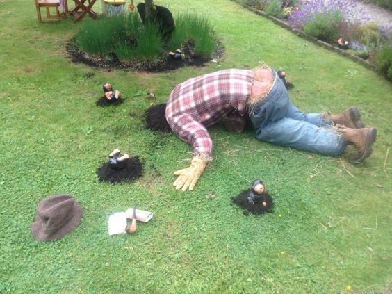 scarecrow fallen over